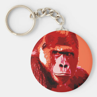 Portrait of Gorilla Basic Round Button Key Ring