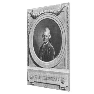 Portrait of Gotthold Ephraim Lessing Canvas Print