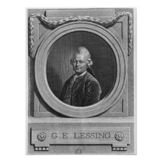 Portrait of Gotthold Ephraim Lessing Poster