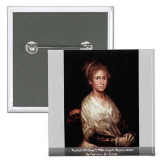 Portrait Of Goya'S Wife Josefa Bayeu Artist 15 Cm Square Badge
