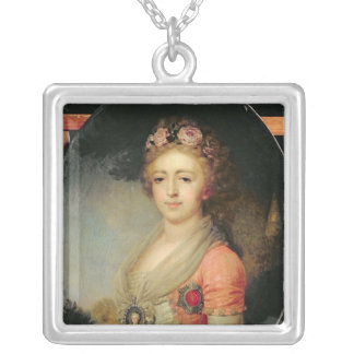 Portrait of Grand Duchess Alexandra, c.1798 Silver Plated Necklace