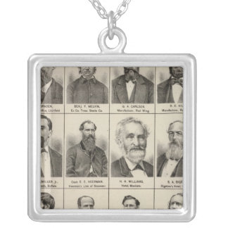 Portrait of Greenleaf, Minnesota Silver Plated Necklace