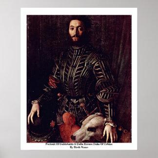 Portrait Of Guidobaldo Ii Della Rovere Poster