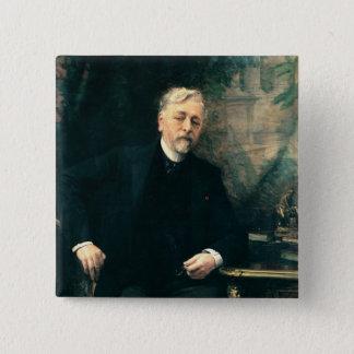 Portrait of Gustave Eiffel  1905 15 Cm Square Badge