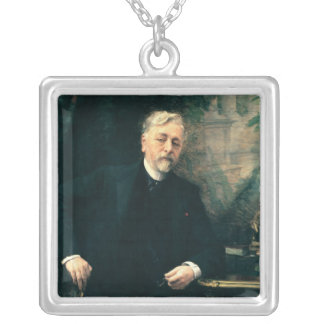 Portrait of Gustave Eiffel  1905 Silver Plated Necklace