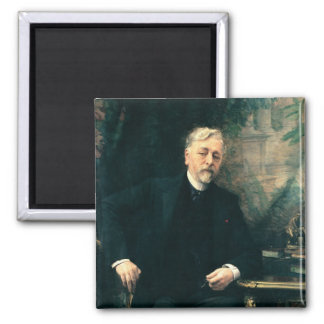 Portrait of Gustave Eiffel  1905 Square Magnet
