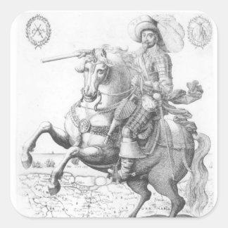 Portrait of Gustavus Adolphus II Square Sticker