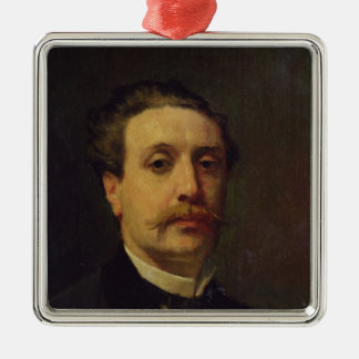 Portrait of Guy de Maupassant  1876 Christmas Ornament