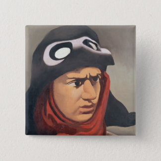 Portrait of Guynemer, 1921-23 15 Cm Square Badge