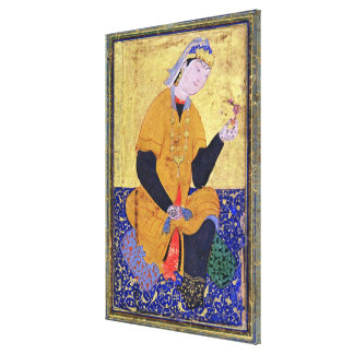 Portrait of Hamida Banu Begum, holding a seal, ill Canvas Print