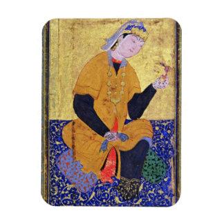 Portrait of Hamida Banu Begum, holding a seal, ill Rectangular Magnet