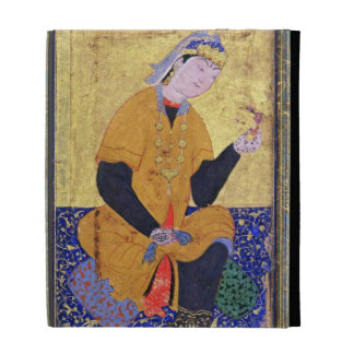 Portrait of Hamida Banu Begum, holding a seal, ill iPad Folio Covers