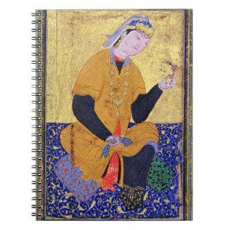 Portrait of Hamida Banu Begum, holding a seal, ill Notebook