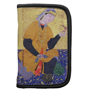 Portrait of Hamida Banu Begum, holding a seal, ill Planner