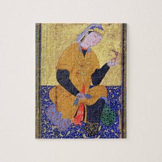 Portrait of Hamida Banu Begum, holding a seal, ill Puzzles