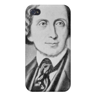 Portrait of Hans Christian Andersen 2 Cases For iPhone 4