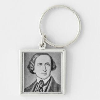 Portrait of Hans Christian Andersen 2 Key Ring