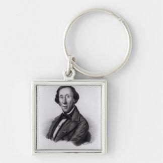 Portrait of Hans Christian Andersen Key Ring