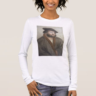 Portrait of Hans Holbein (1497/8-1543) engraved by Long Sleeve T-Shirt