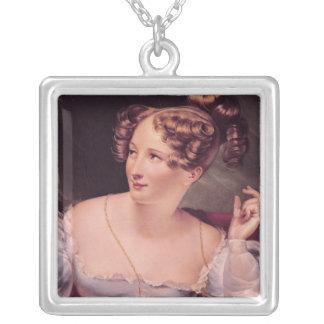 Portrait of Harriet Smithson Square Pendant Necklace