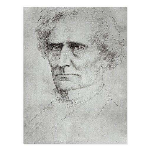 Portrait of Hector Berlioz Postcard