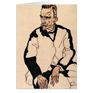 Portrait Of Heinrich Benesch By Egon Schiele Greeting Card