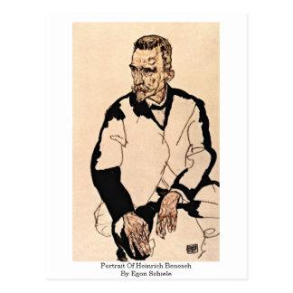 Portrait Of Heinrich Benesch By Egon Schiele Postcard