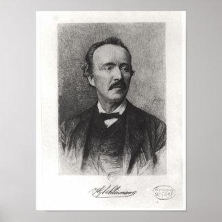 Portrait of Heinrich Schliemann Poster