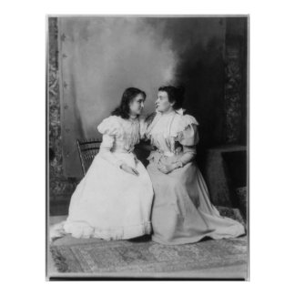 Portrait of Helen Keller and Anne Sullivan Poster