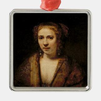 Portrait of Hendrikje Stoffels Christmas Ornament