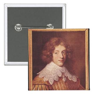 Portrait of Henri Coeffier de Ruze d'Effiat 15 Cm Square Badge