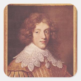 Portrait of Henri Coeffier de Ruze d'Effiat Square Sticker