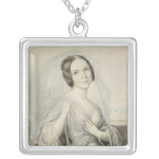 Portrait of Henriette Gertrude Sontag Silver Plated Necklace