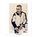 Portrait Of Henry Benes By Schiele Egon Postcard