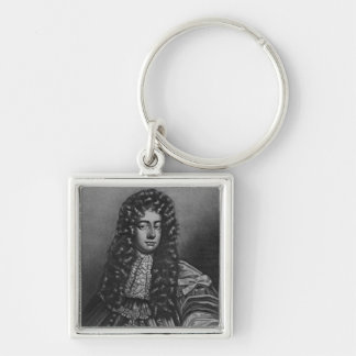 Portrait of Henry Duke of Grafton Silver-Colored Square Key Ring