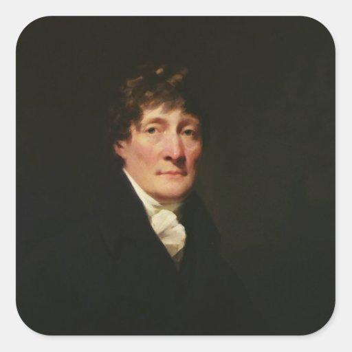 Portrait of Henry Mackenzie Square Sticker