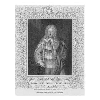 Portrait of Henry St. John Viscount Bolingbroke Postcard
