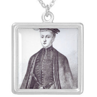 Portrait of Henry Stewart, Lord Darnley Silver Plated Necklace