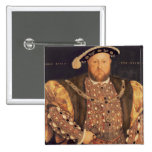 Portrait of Henry VIII  aged 49, 1540 15 Cm Square Badge