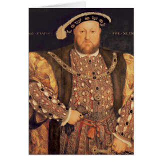 Portrait of Henry VIII  aged 49, 1540 Greeting Card