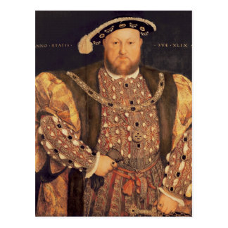Portrait of Henry VIII  aged 49, 1540 Postcard