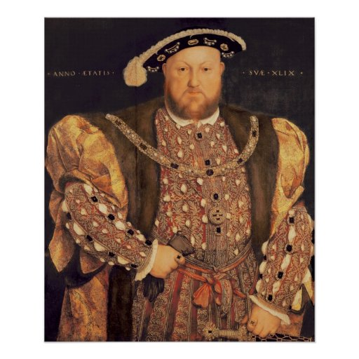Portrait of Henry VIII  aged 49, 1540 Poster