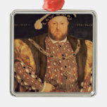 Portrait of Henry VIII  aged 49, 1540 Silver-Colored Square Decoration