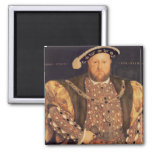 Portrait of Henry VIII  aged 49, 1540 Square Magnet