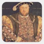 Portrait of Henry VIII  aged 49, 1540 Square Sticker