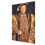 Portrait of Henry VIII  aged 49, 1540 Stretched Canvas Print