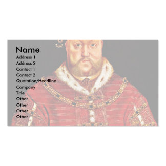 Portrait Of Henry Viii By After Hans Holbein D. J. Business Card