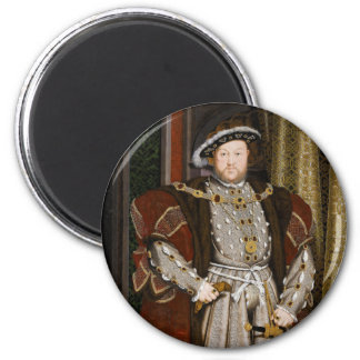 Portrait of Henry VIII by Hans Holbein the Younger 6 Cm Round Magnet