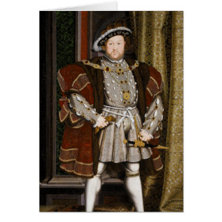 Portrait of Henry VIII by Hans Holbein the Younger Greeting Cards