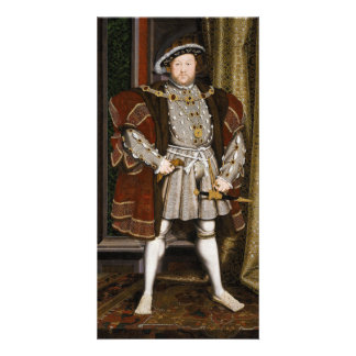 Portrait of Henry VIII by Hans Holbein the Younger Customized Photo Card